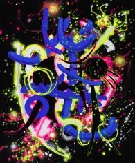 """""""Spaced"""", 2016 Acrylic gouache on canvas"""