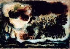 """Jean Fautrier """"Fruits dans un compotier et fleurs"""", 1939"""