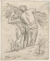 """PIERRE PUVIS DE CHAVANNES, """"Porteurs de fagots (Men Carrying Branches)"""", 1892"""