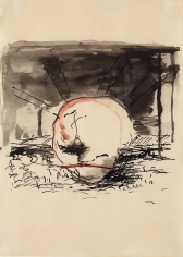 """G."", 1961 Ink, gouache on paper"