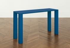 """PETROLEUM-BLUE TABLE SCULPTURE, I"", 1967"
