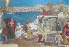 """""""Marseille, Porte de l'Orient (modello) (Marseille, Gateway to the Orient [modello])"""", 1868-1870"""