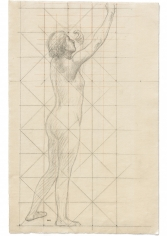 """""""Nu féminin levant un bras (étude pour L'Enfance de Sainte Geneviève) (Female Nude with Raised Arms [Study for The Childhood of Saint Genevieve])"""", 1878"""