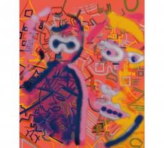 """Sigmar Polke """"Zwei Köpfe (Two Heads)"""",1971-1973"""