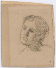 """""""Tête de femme (Woman's head)"""", ca. 1875-1880"""