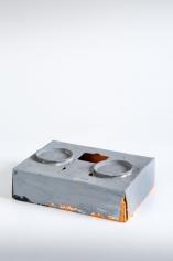 """""""Standart-Modell"""", 1972-1973 Cardboard, metal lids, paint"""