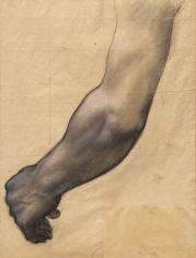 """""""Étude d'un bras (étude pour Sainte Geneviève en prière) (Study of an Arm [Study for Saint Genevieve in Prayer])"""", ca. 1877-1878"""
