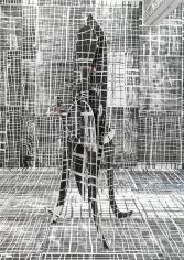 """Untitled"", 2010 Painted wood, tape"
