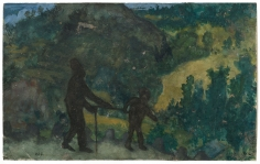 """Homme aveugle et enfant (Blind Man and Child)"", ca. 1850-1855"