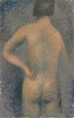 """Jean Fautrier """"Nu de dos, main gauche à la hanche (Nude back, left hand to hip)"""", 1926"""