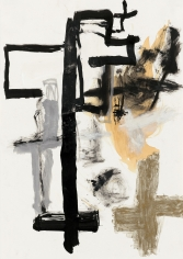 """""""Untitled"""", 1989 India ink, gouache, gold pigment, silver pigment on paper"""