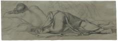 """Étude pour Le Sommeil (Study for ""Sleep)"", 1867, 1867"
