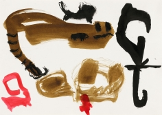 """""""Untitled"""", 1990 India ink, gouache, gold pigment on paper"""