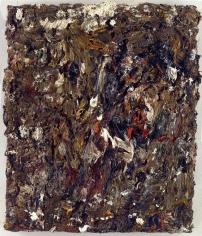 """EugèneLeroy """"Tête dans un paysage"""", 1996"""