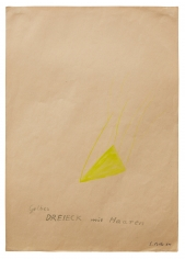 """""""Yellow Triangle With Hair"""", 1964"""