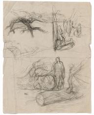 """""""Étude pour Les Bûcherons (Study for The Woodcutters)"""", 1874"""