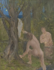 """PIERRE PUVIS DE CHAVANNES, """"Baigneurs dans un sous-bois (Bathers under Trees)"""", ca. 1890-91, ca. 1890-91"""