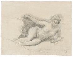 """Femme nue allongé (Lying Female Nude)"", n.d."