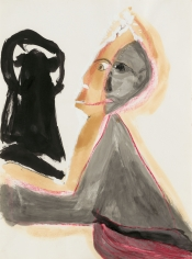 """""""Untitled"""", 1986 India ink, pencil, pastel on paper"""