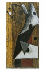 """Untitled"", 1982 Oil on wood, iron"