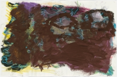 """Untitled"", 1992 Crayon, pastel, gouache on paper"
