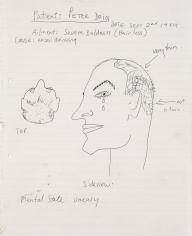 """Uneasy"", 1984 Ballpoint pen on paper"