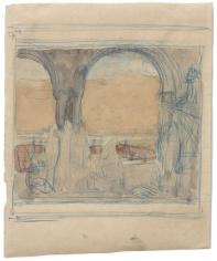 """""""Esquisse pour La Sorbonne (Sketch for the background of La Sorbonne)"""", 1889"""
