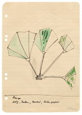 """Plant: Wood, Slats, Cord, Tissue Paper"", 1968"