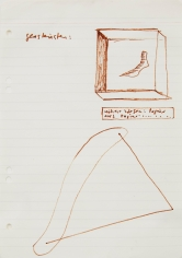 """""""Glass Cubes. Higher Powers: Paper Made from Paper…"""", ca. 1968"""