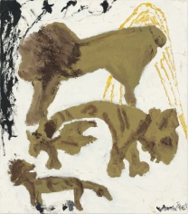 """""""Stacked"""", 1991 Oil on linen"""