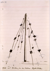 """""""Steel with Strings, Paper Sheets Hanging from the Strings"""", 1968"""