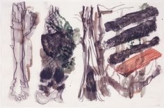 """""""Untitled"""", 2004 Gouache, watercolor, charcoal, red chalk on paper"""