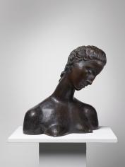 WILHELM LEHMBRUCK, 'Geneigter Frauenkopf (Büste der Knienden)', 1912-14