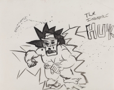 """""""Hulky"""", 1985 India ink on paper"""