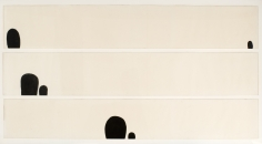 """""""Untitled"""", 1959 Ink on Japanese paper, in three parts"""