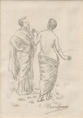 """""""Deux muses (pour Le Bois Sacré) (Two Muses [for The Sacred Grove])"""", 1884-1885"""