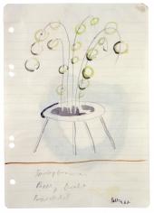 """Untitled (Fountain, Cardboard, Wire, Coaster)"", 1967"