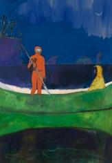 """Spearfishing"", 2013 Oil on linen"