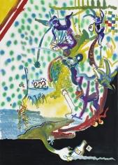 """Sigmar Polke """"Stadt der Affen (Monkey Town)"""", 1971"""