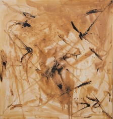 """""""Untitled"""", 1990 Silver nitrate, lapis infernalis on linen"""