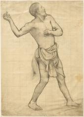 """""""Ludus pro Patria (étude pour un lanceur de javelot) (Ludus pro Patria [study for a Javelin Thrower])"""", 1882"""
