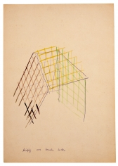 """""""Cage Made from Colored Slats"""", ca. 1969"""