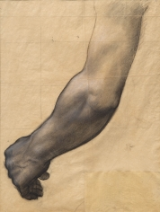 "PIERRE PUVIS DE CHAVANNES, ""Étude d'un bras (étude pour Sainte Geneviève en prière) (Study of an Arm [Study for Saint Genevieve in Prayer])"", ca. 1877-1878"