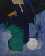 """Villejuif"", 1951 Oil on jute"