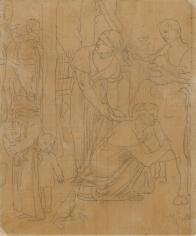 """""""Étude pour Le Panthéon (Study for the Pantheon)"""", ca. 1870-1890"""