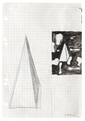 """""""Untitled"""", 1968 Pencil, ink, gouache on graph paper"""