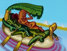 """Peter Saul """"Cleopatra, Queen of the Nile"""", 2013"""
