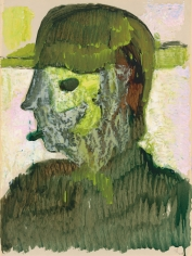 "Peter Doig ""Hockey Head"", 2017"