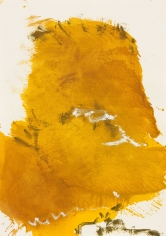 """""""Untitled"""", 1989 Gouache, gold pigment on paper"""