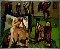 """Poussin - schweres Grün"", 1989"